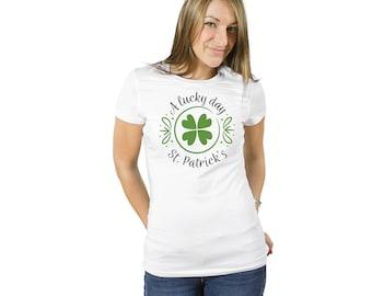 St Patricks Day Tshirt, shamrock, Lucky day Shirt for St. Patrick's day shirt, St. Patty Day shirt, holiday shirt, Irish shirt, St Paddy