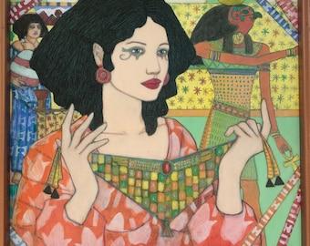 Ahseti, acrylic gouache painting by Richard Jarvis