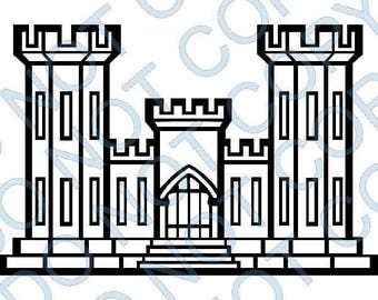 Corps of Engineers Castle Decal