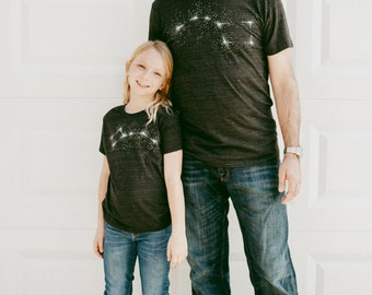 Big Dipper Little Dipper Tshirt Set, Celestial New Dad and Baby Father's Day Gift, Matching Shirts Father Son Daughter T Shirt Kids Gift