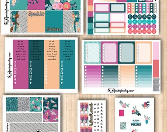 In Bloom | Erin Condren and Classic Happy Planner kit | Weekly Planner Sticker Kit | Premium Matte | Glossy