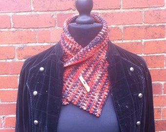 Autumn Collar, hand crocheted short scarf