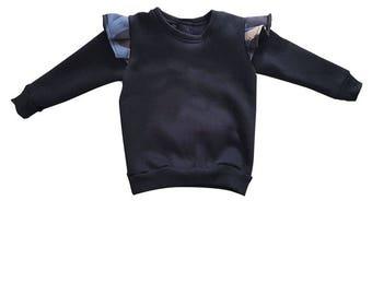 Girl's sweatshirt with printed ruffles/ruffles baby girl Sweatshirt