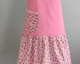 Womens Cute Full Retro Apron, Kitchen Cooking Aprons, Vintage Style Pink Flirty Apron, Chef Apron, Home and Living, Womens Gift