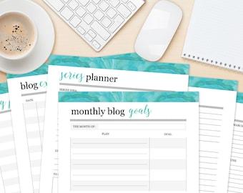Blog Planning Printables, Print Your Own Business Worksheets, Printable Planner