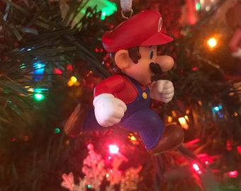 Super Mario Running Holiday Christmas Ornament