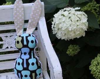 Groovy Guitar Bits The Bunny Plush Rattle - SALE