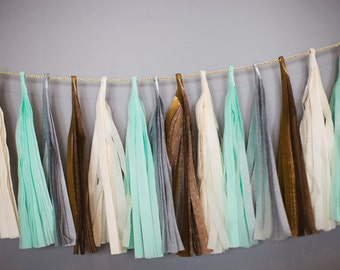 Art Deco Tassel Garland: Silver/Gold