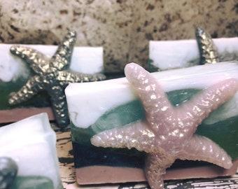 4.3 oz Starfish Bay Soap Bar Ocean Themed Soap by Sassy Grace