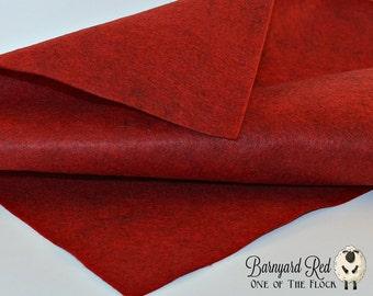 Barnyard Red Wool Felt, Wool Felt Yardage, Wool Felt by the Yard, Wool Blend Felt, Wool Felt Fabric, Red Felt Yardage, Red Felt Fabric
