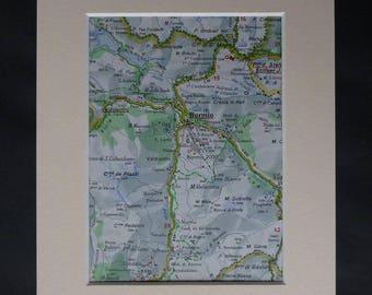 Vintage ski map Etsy