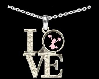 LOVE Cheer Rhinestone Necklace