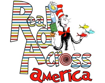 Dr Seuss Read Across America. Sublimation Transfers. These must me done with heat press 400 degrees for 60 seconds. Minimum of 50% polyeste