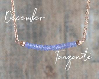 Tanzanite Bar Necklace
