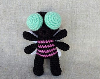 Fly Guy crochet toy insect toy plusie fly insect Amigurumi toy insect gift amigurumi fly Gift for kids Cute insect gift for entomologist
