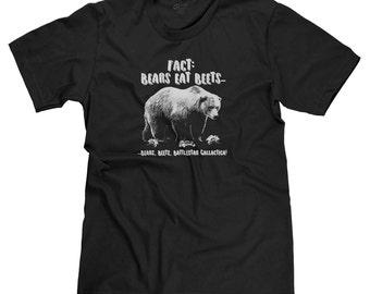Fact: Bears Eat Beets Battlestar Galactica The Office Dwight Schrute Jim Halpert Funny Parody T-shirt Tee