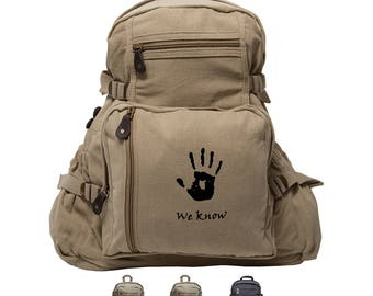 Skyrim We Know Sport Heavyweight Canvas Backpack Bag