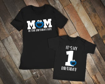 Cookie Monster Birthday Shirt, Elmo Birthday Party, Elmo Family Shirts, Elmo and Friends Party, Sesame Street Birthday, Sesame Street Party