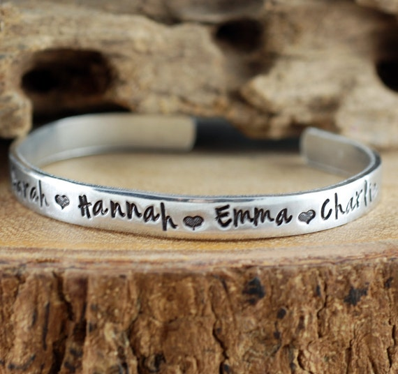 Custom Name Bracelet, Childrens Name Cuff Bracelet, Custom Bracelet, Kids Name Cuff Bracelet, Mother Bracelet, Grandma Jewelry, Gift for Mom