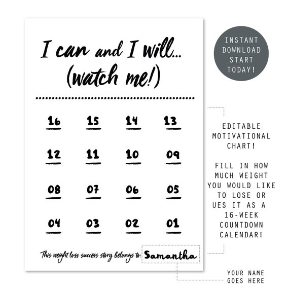 weight loss wall chart tips for life