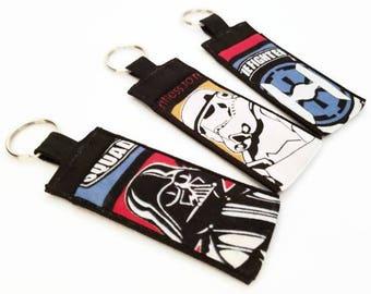 Chapstick Holder Keychain, Lip Balm Holder, Chapstick Holder, Lip Balm Keychain, Star Wars, Darth Vader, Stormtrooper, Tie Fighter, Keychain