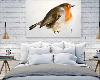 Robin Bird Art print. Wall Art by, printable art, instant download art by Artmagenta