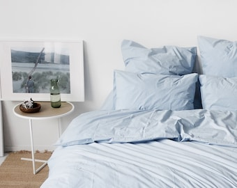 Percale pillowcases (100% Egyptian cotton)