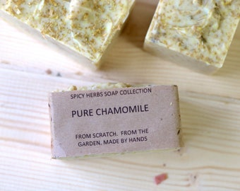Chamomile Soap - Herbal Soap, Soft Soap, Organic Soap, Natural Soap, Cold Process Soap, Vegan Soap, Handmade Soap