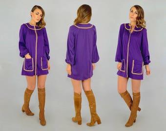 60's Purple Mini Dress