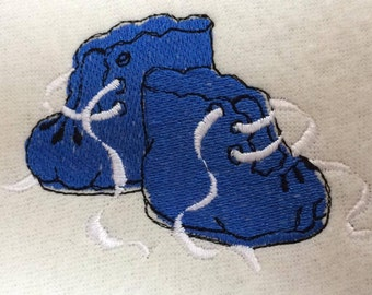 emroidery file, baby shoes 9.5x6.3cm all formats instant download