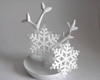 Earrings mini Hama snowflakes Frozen ice freeze