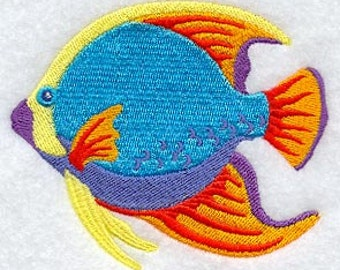 Fish Towel - Caribbean Towel - Embroidered Towel -Tropical Fish Towel - Flour Sack Towel - Hand Towel - Bath Towel - Apron - Fingertip Towel