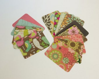 Retro Paper Pack, Flowers Birds Journaling Cards, Card Making, Scrapbook Embellishments, Artist Trading Card, Paper Ephemera, Gift Tags