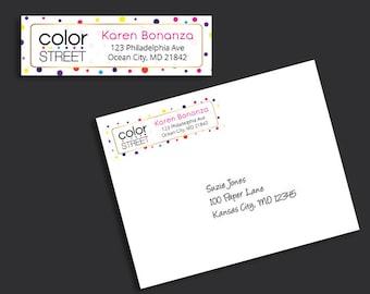 Personalized Color Street Return Address Labels, Color Street Catalog Labels, Color Street Business Card Card, Modern Business Card CS08