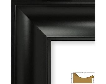 """Craig Frames, 5x7 Inch Satin Black Picture Frame, Impression 2.375"""" Wide (502730507)"""