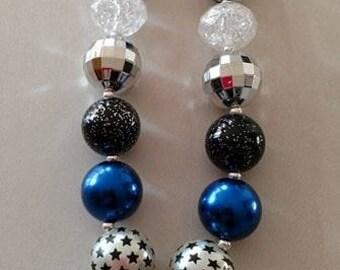 Tardis chunky bead necklace