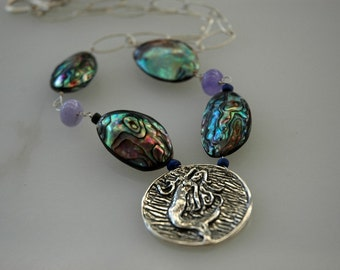 Abalone Mermaid Necklace