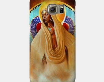 Samsung Galaxy Phone Case African American Goddess Black Girl Magic Maat Afrofuturism