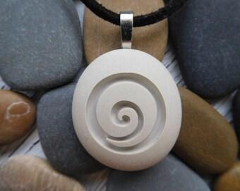 Koru Necklace, Maori Necklace, Maori Koru BC Jade Pendant Necklace, Jade Koru, Spiral Pendant, Surfer Necklace, New Beginnings, Tranquility