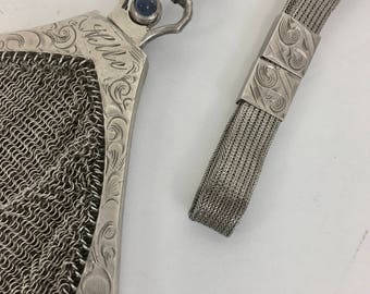 Elegant Engraved Vintage Coin Purse with Sapphire Clasp (OTH10299)