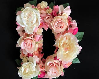 Custom Floral Letter for Nursery, Baby Shower or Bridal Shower - Your Choice of Letter and Primary Flower Color