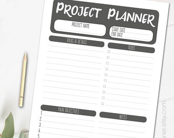 Printable weekly planner personal organizer letter size