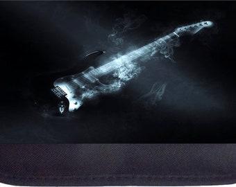 Smoking Electric Guitar  - Black Pencil Bag - Pencil Case