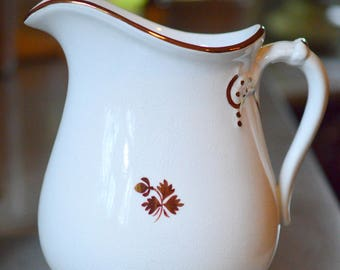 Tea Leaf Ironstone Milk Pitcher Anthony Shaw 1800's (B)