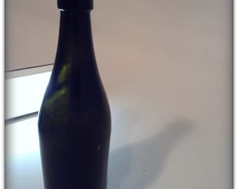 Vintage Dark Green Glass Bottle