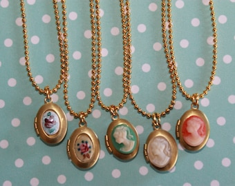 Girls Locket Necklace, Flower Girl Locket, Cameo Locket, Children Locket Necklace, Birthday Gift, Christmas gift!