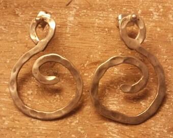 Spirale  silver earrings