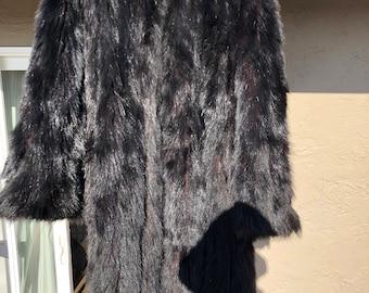 Vintage full length fur coat