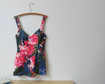 Vintage Cole of California Floral Swimsuit - Size 14