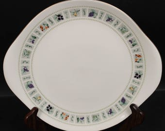Royal Doulton ''Tapestry'' Cake Plate with Handles.  10-3/8''  (CGP-1315)